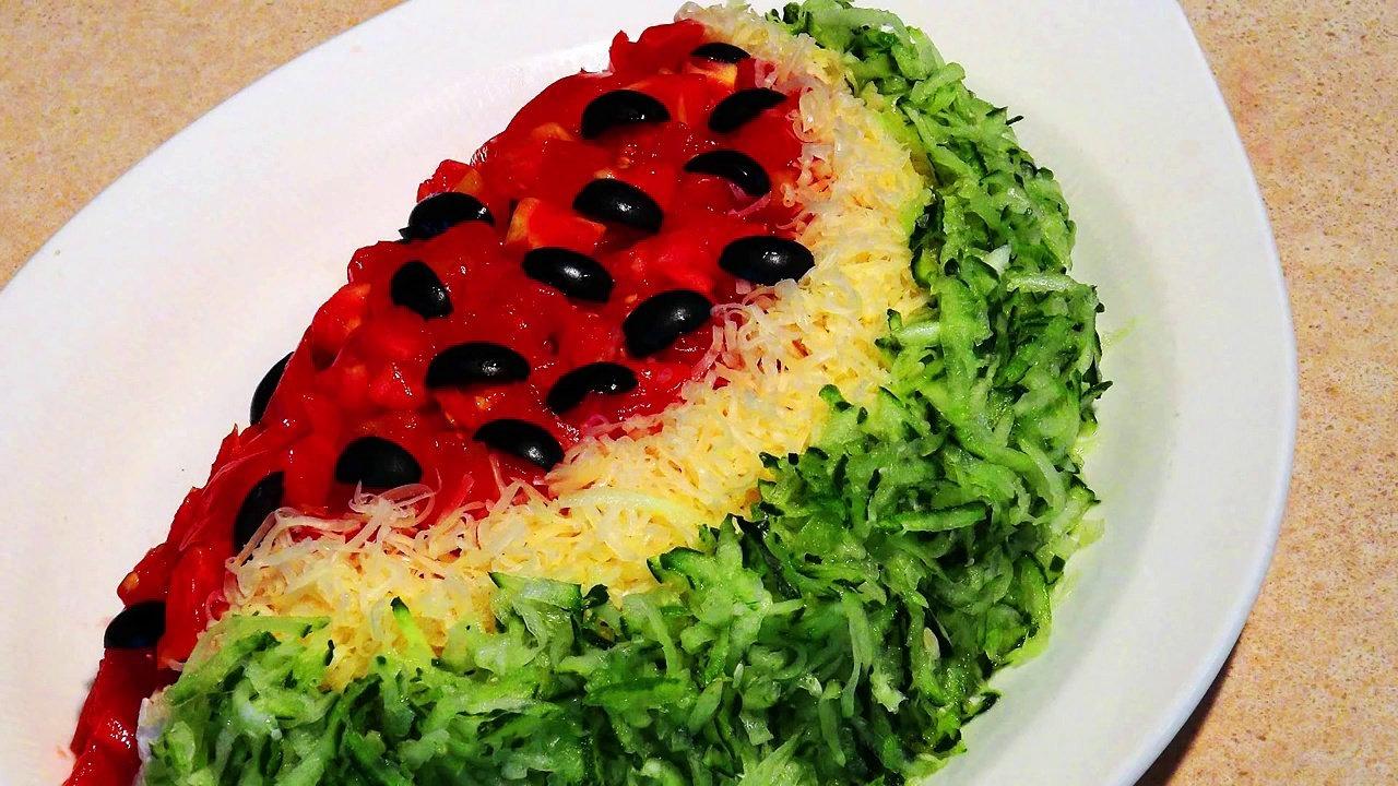 Картинка салата арбузная долька