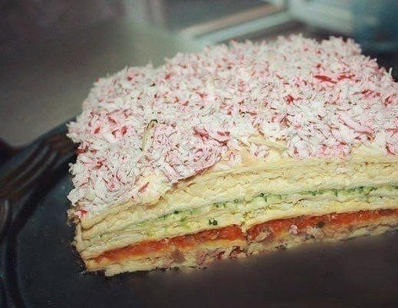 закусочный торт из вафельных коржей рецепт фото считают